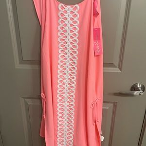 Lilly Pulitzer Lilly's Coral Pearl Romper